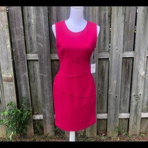 NWT Calvin Klein Pink Fitted Sheath Dress